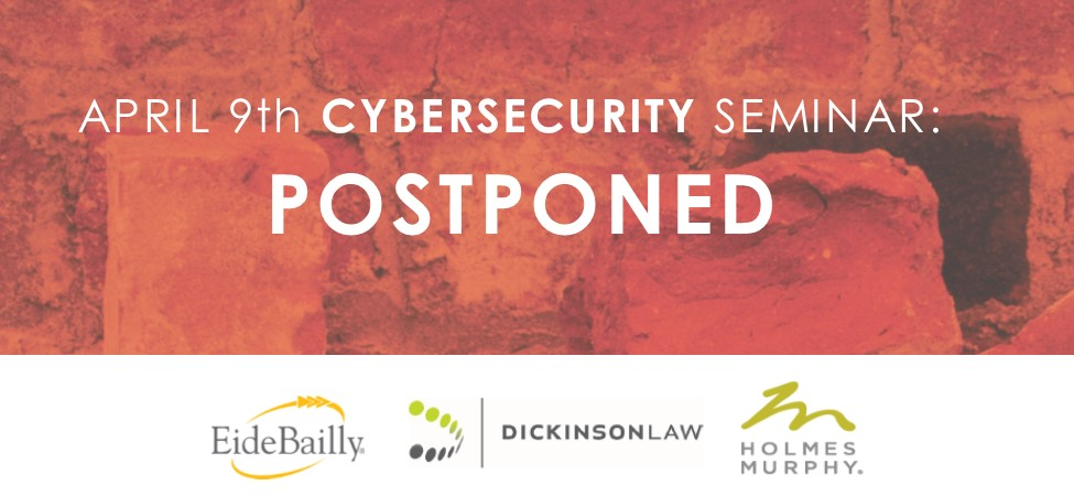 Cybersecurity Seminar: Postponed