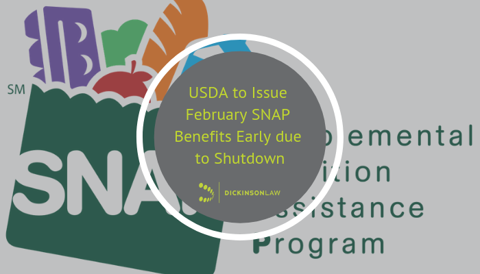 USDA to issue February SNAP benefits early due to shutdown