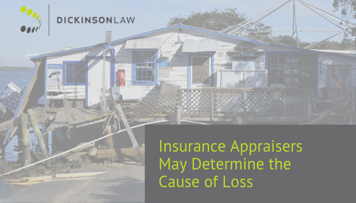 Insurance Appraisers May Determine the Cause of Loss