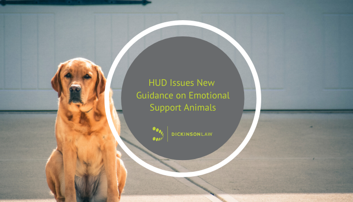 HUD Issues New Guidance on Emotional Support Animals