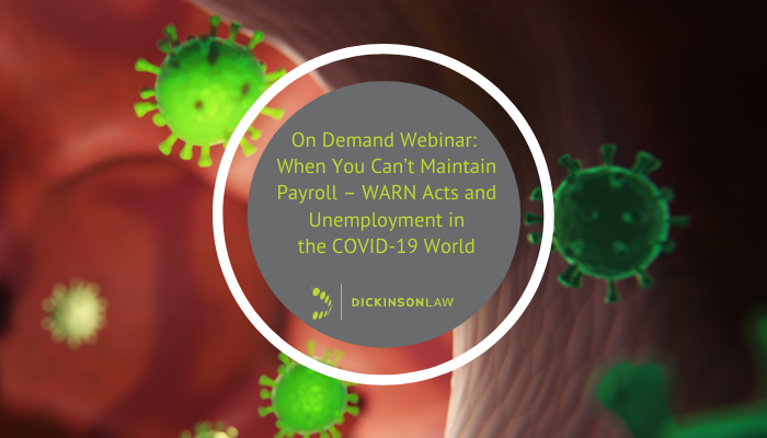 On Demand Webinar: When You Can't Maintain Payroll - WARN Acts & Unemployment in the COVID-19 World