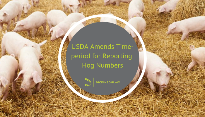 USDA Amends Time-period for Reporting Hog Numbers