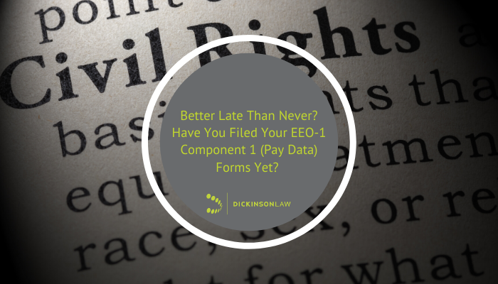 Better Late Than Never? Have You Filed Your EEO-1 Component 2 (Pay Data) Forms Yet?