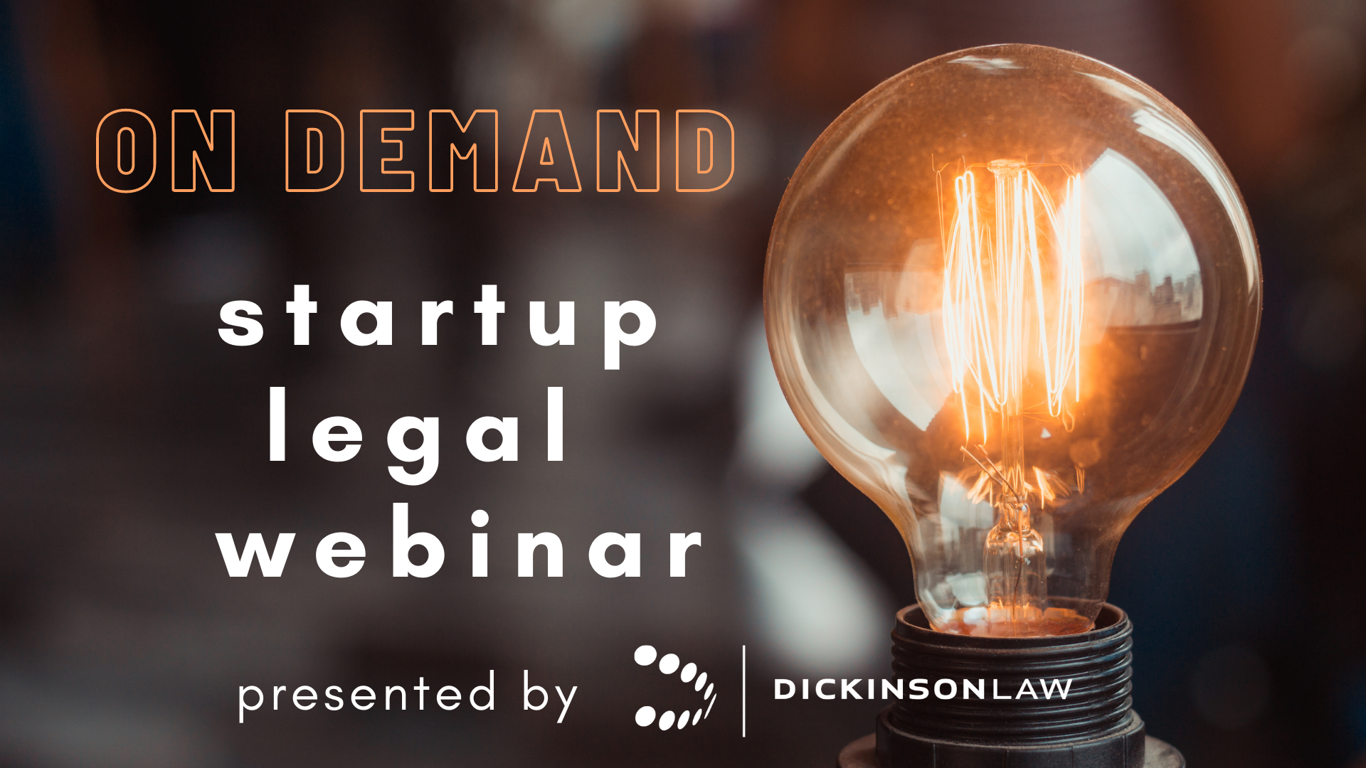 On Demand: Startup Legal Webinar