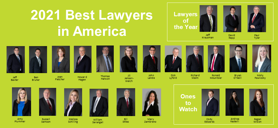 Dickinson Attorneys Named to All Three Best Lawyers® Recognition Lists for 2021
