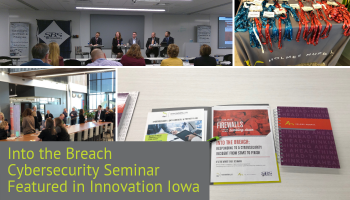 Into the Breach Cybersecurity Seminar Featured in Innovation Iowa