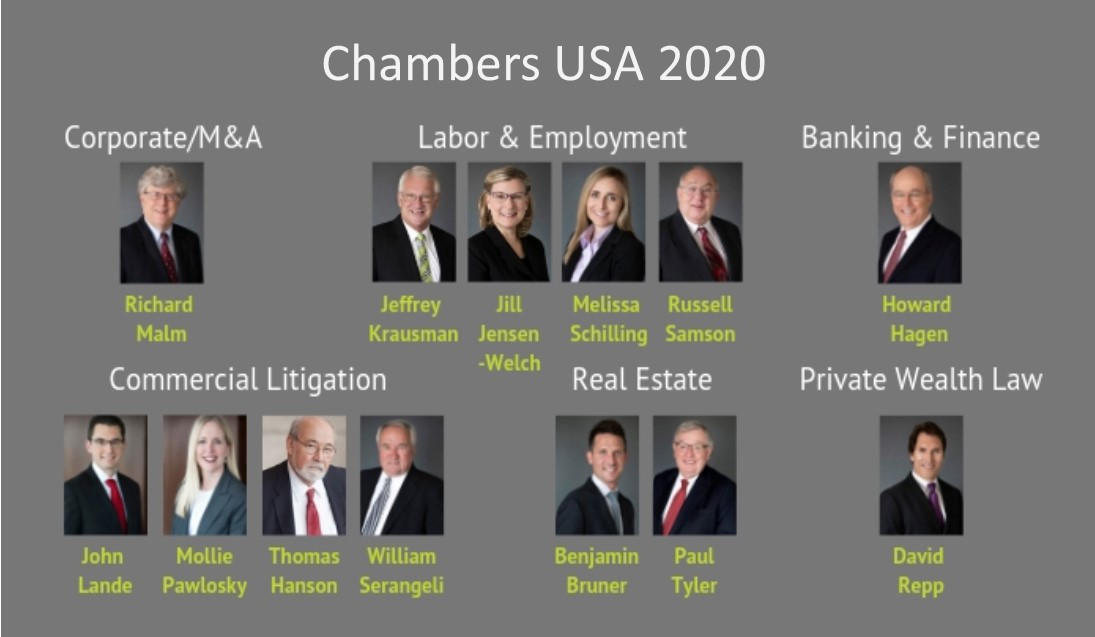 Dickinson Law Recognized by Chambers USA 2020
