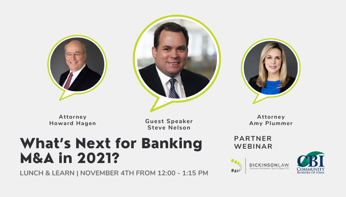 Lunch & Learn: What's Next for Banking M&A in 2021?