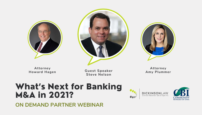 On Demand Webinar: What's Next for Banking M&A in 2021?