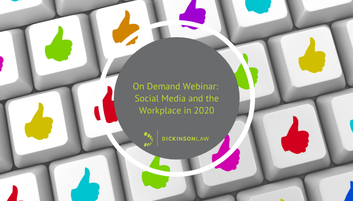 On Demand Webinar: Social Media and the Workplace in 2020