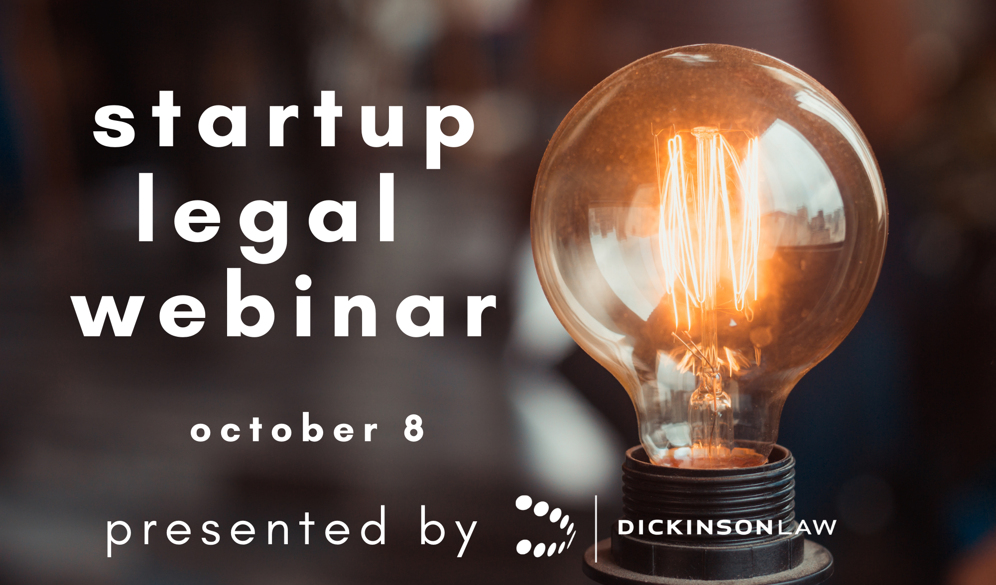 Startup Legal Webinar to Be Held October 8