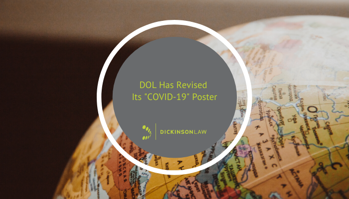 "DOL Has Revised Its ""COVID-19"" Poster"