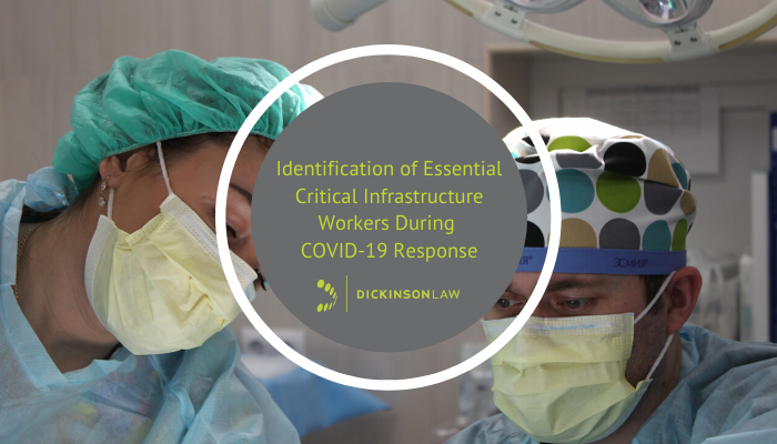 Identification of Essential Critical Workforce During COVID-19 Response