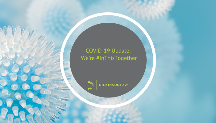 COVID-19 Update: We're #InThisTogether
