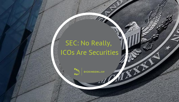SEC: No Really, ICOs Are Securities