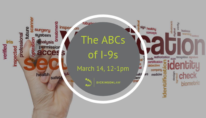 Webinar: The ABCs of I-9s