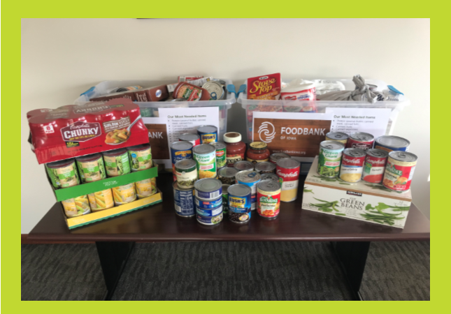Helping Those in Need: Food Bank of Iowa Donation